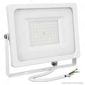 50W LED Floodlight White Body SMD 6400K