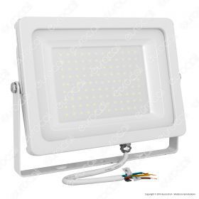 100W LED Floodlight White Body SMD 4000K