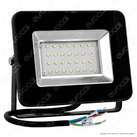 20W LED Floodlight I-Series Black Body 6000K