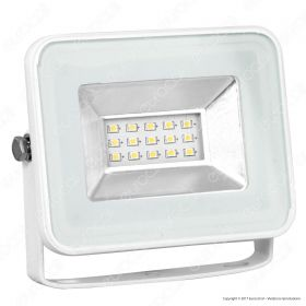 10W LED Floodlight I-Series White Body 3000K