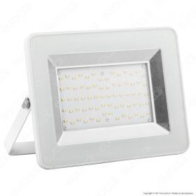 50W LED Floodlight I-Series White Body 6000K