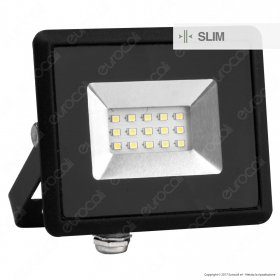 10W LED Floodlight SMD E-Series Black Body 4000K