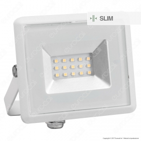 10W LED Floodlight SMD E-Series White Body 3000K
