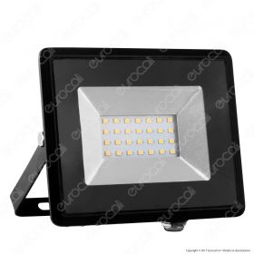 20W LED Floodlight SMD  E-Series Black Body 3000K