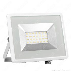 20W LED Floodlight SMD E-Series White Body 3000K