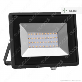 30W LED Floodlight SMD E-Series Black Body 6000K