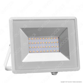 30W LED Floodlight SMD E-Series White Body 6500K