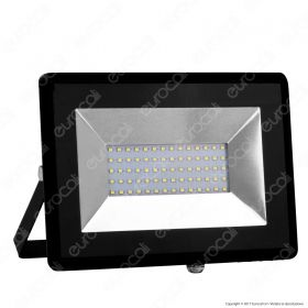 50W LED Floodlight SMD E-Series Black Body 4000K
