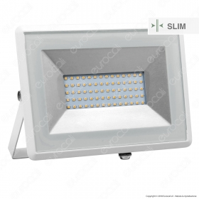 50W LED Floodlight SMD E-Series White Body 3000K