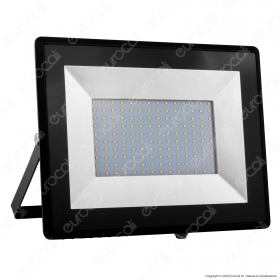 100W LED Floodlight SMD E-Series Black Body 6500K