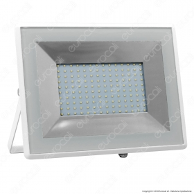 100W LED Floodlight SMD E-Series White Body 6500K