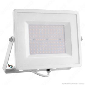 100W LED Floodlight White Body SMD 6000K White Cable