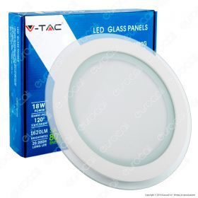 18W LED Panel Downlight Glass - Round  4000K