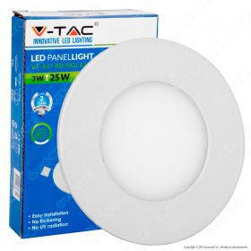 3W LED Premium Panel Downlight - Round 4000K