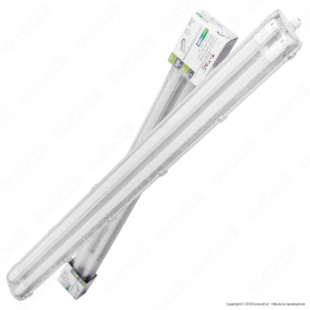 LED Waterproof Lamp PC/PC 2x1200mm  2x18W 4000K