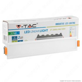 20W LED Linear Light White 3000K - NEW