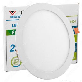 22W LED Slim Panel Light Round 6400K