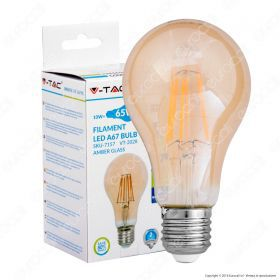 LED Bulb - 10W Filament E27 A67 Amber Cover 2200K