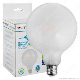 LED Bulb - 7W Filament  E27 G95 Frost Cover 2700K Dimmable