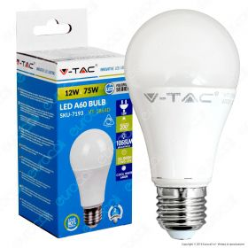 LED Bulb - 12W E27 A60 Thermoplastic 4000K Dimmable