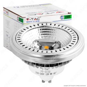 LED Spotlight - AR111 12W GU10 Beam 40 COB Chip 6000K Dimmable