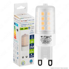 LED Spotlight - 3W G9 Plastic Milk Cover 4000K Dimmable