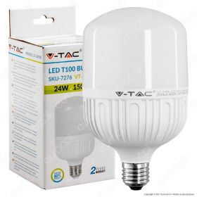 LED Bulb 24W ?27 T120 Big Ripple Plastic 6400K