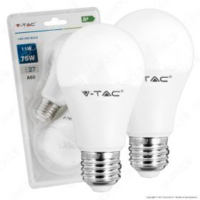 LED Bulb - 11W E27 A60 Thermoplastic 6400K 2PCS/Blister Pack
