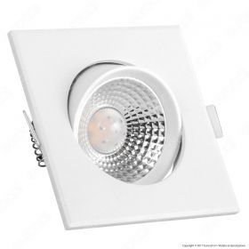 5W LED Downlight Square Changing Angle White Body 4000K