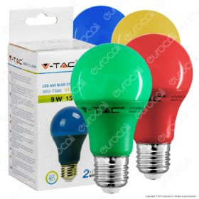 LED Bulb - 9W E27 Green Color Plast