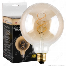 LED Bulb - 5W Filament  E27 G125 Am