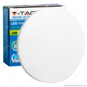 6W Wall Lamp White Body Round IP65 3000K