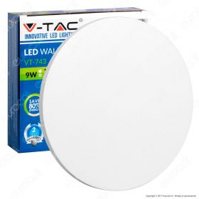 9W Wall Lamp White Body Round IP65 4000K