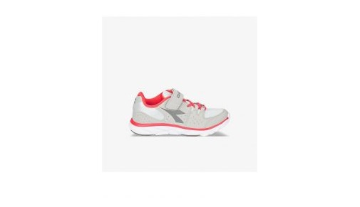 Scarpetta Diadora Hawk 8 JR Gray Rock-Hot Coral