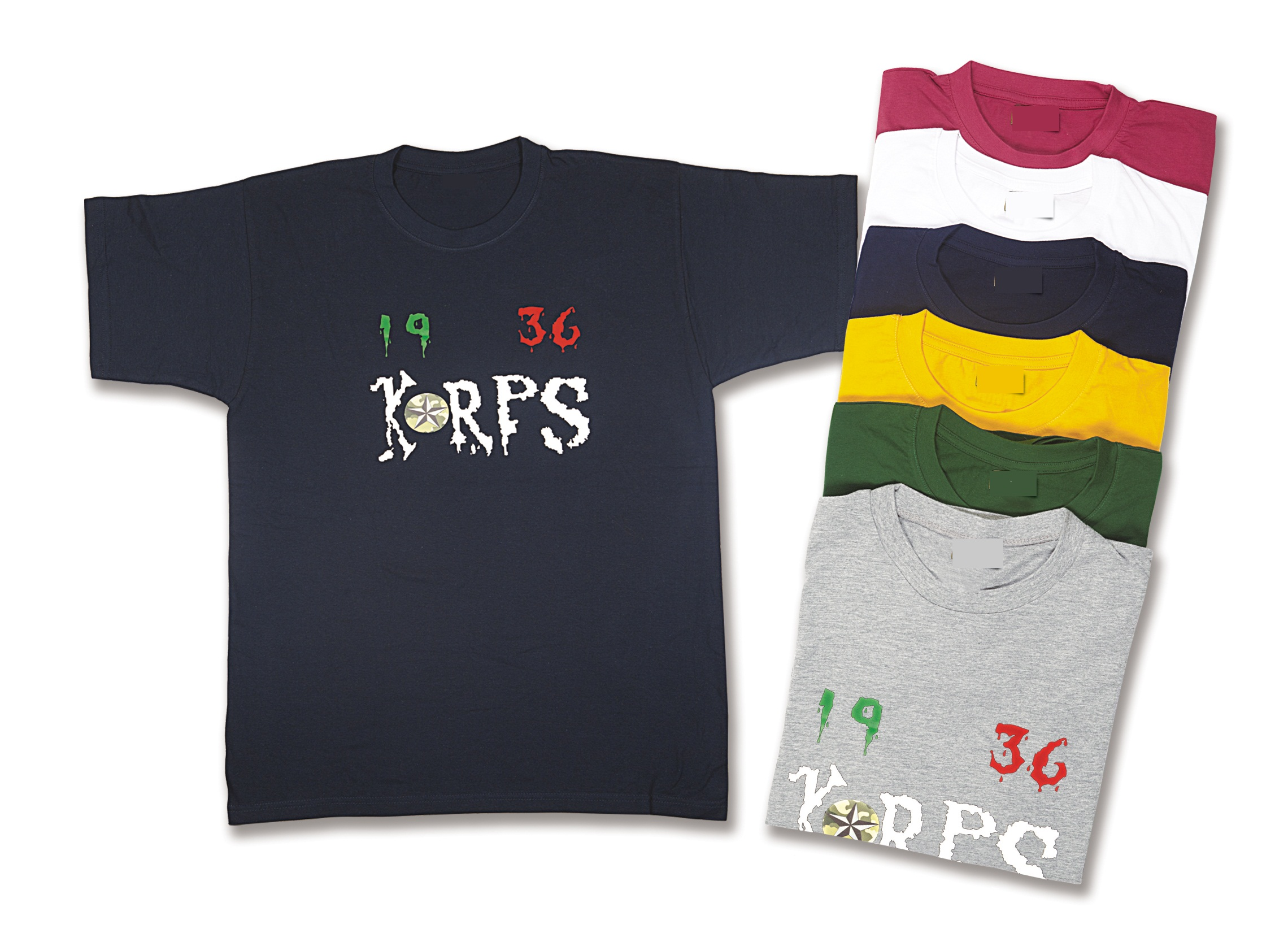 TShirt Softair Korps in cotone con stampe Made in Italy 1936 KORPS