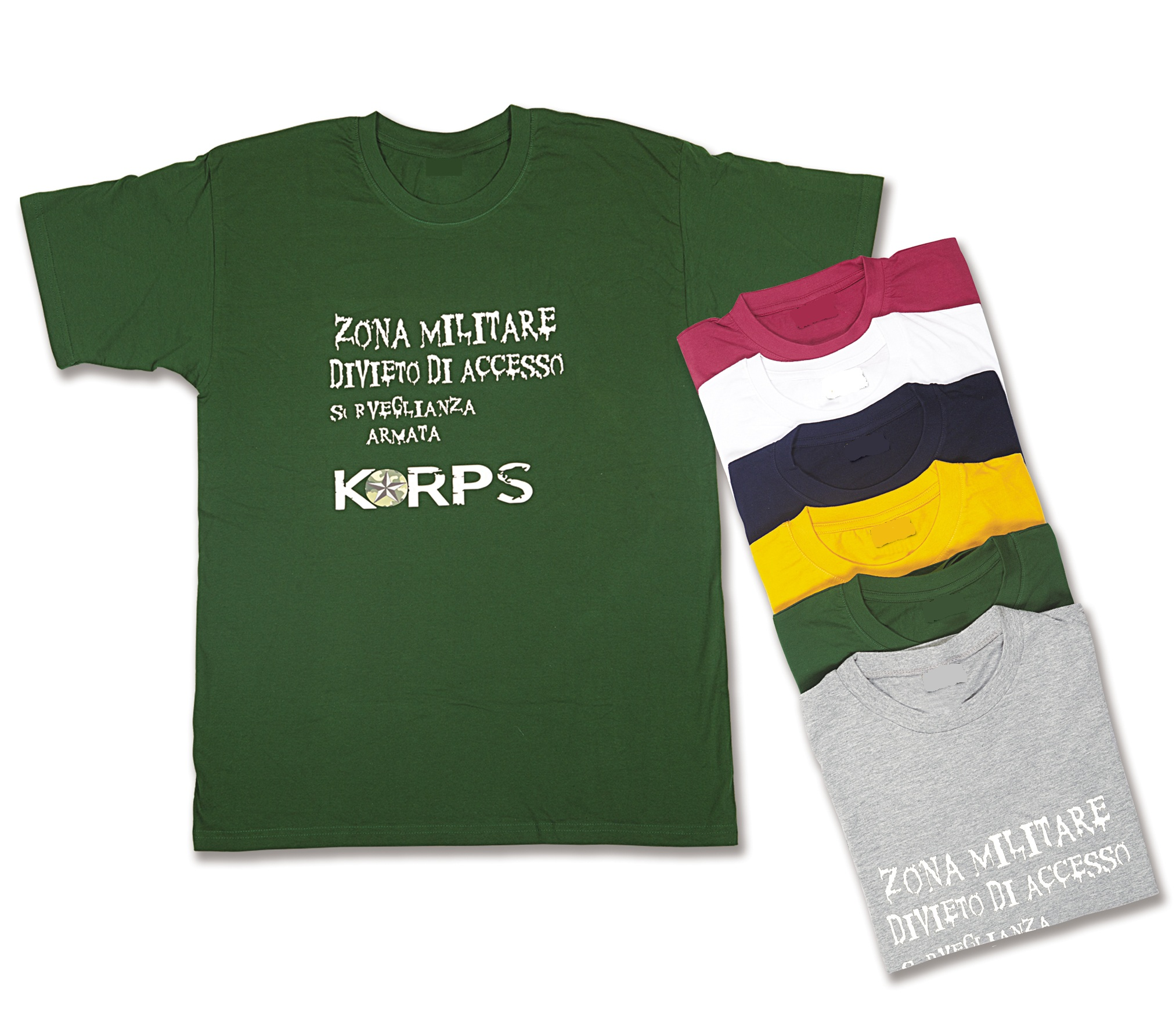 TShirt Softair Korps in cotone con stampe Made in Italy ZONA MILITARE