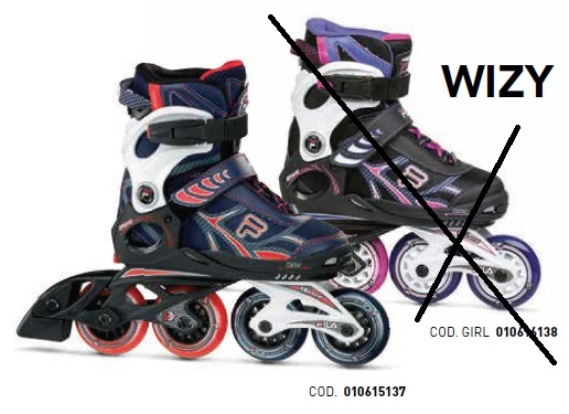 Skates Pattini in Linea Fila WIZY BOY linea Junior