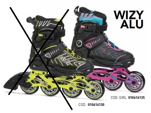 Skates Pattini in Linea Fila WIZY ALU GIRL linea Junior