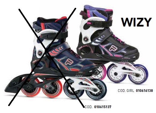 Skates Pattini in Linea Fila WIZY GIRL linea Junior