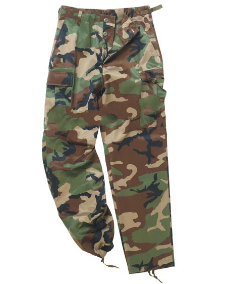 Pantalone BDU USA tipo Ranger in misto poliestere Woodland