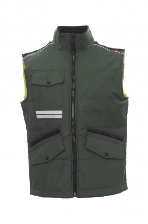 Gilet unisex MIG 2.0 zip 8mm in plastica con cursore in metallo con patta e bottoni in plastica