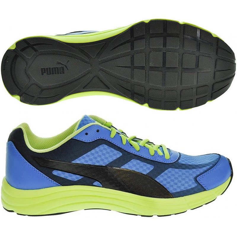 Scarpetta Puma Expedite Mens Running French Blue-Sharp Green-Black TG 44