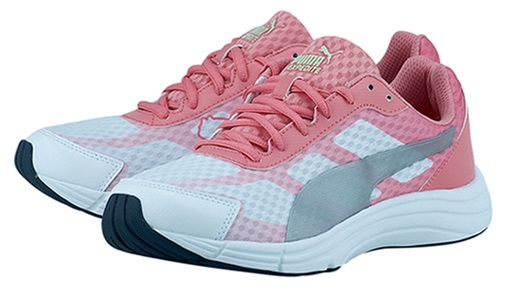 Scarpetta Puma Womens Expedite White-Salmon Rose-Silver