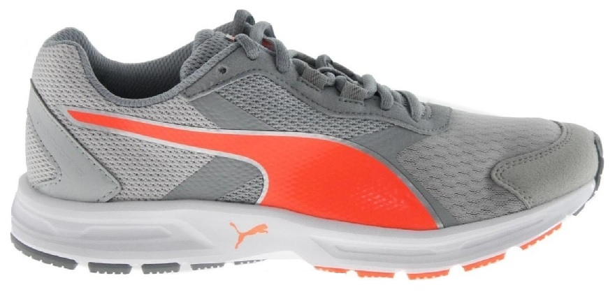 Scarpetta Puma Junior Descendant V3 WN Gray-Quarry-Fluo Peach