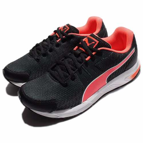 Scarpetta Puma Womens Sequence V2 Black-Fluo Peach-White