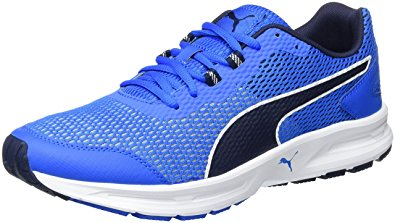 Scarpetta Puma Mens Descendant V4 Electric Blue-Peacoat-White