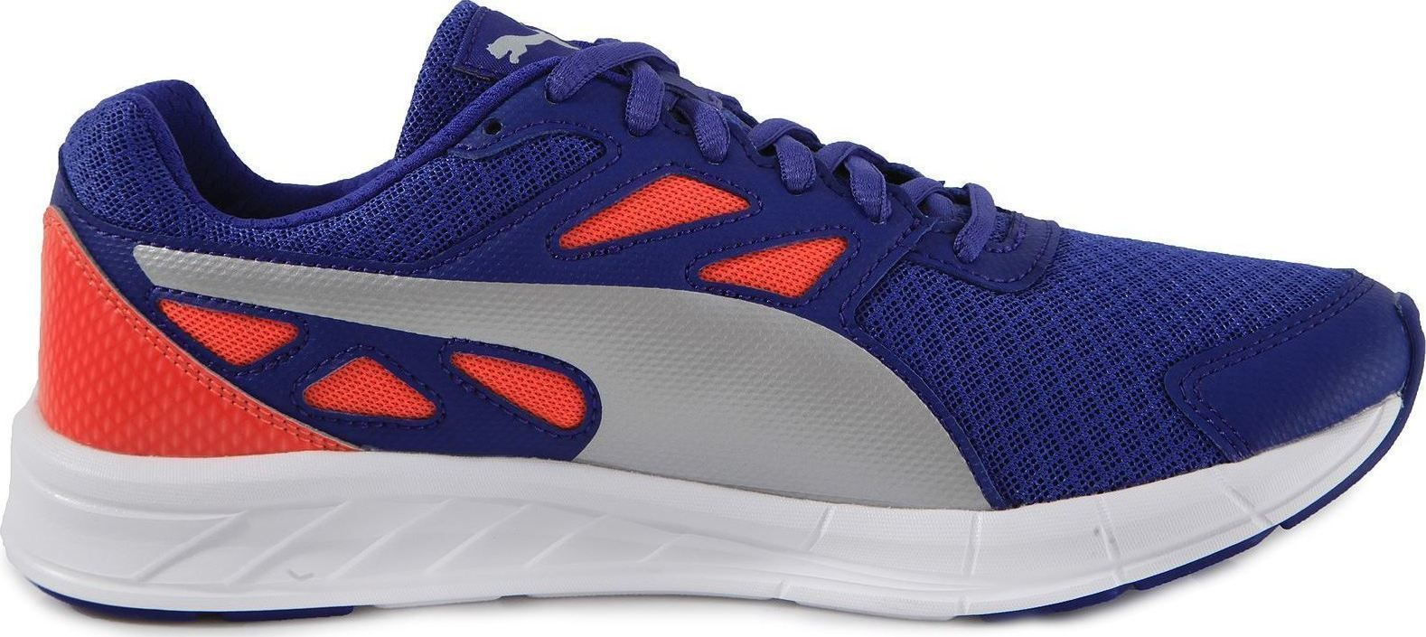 Scarpetta Puma Womans Driver Royal Blue-Silver-Red Blast