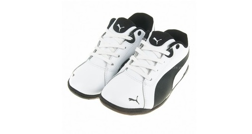 Scarpetta Puma Junior Racing Cat White-Black TG 38