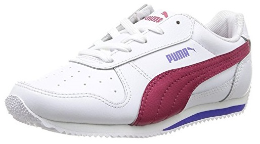 Scarpetta Puma Junior Fieldsprint L White-High Risk Red-Blue