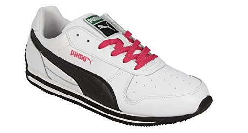 Scarpetta Puma Junior Fieldsprint SL Womans White-Black-Virtual Pink
